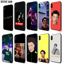 IYICAO Lil Mosey Rapper Soft Black Silicone Case for iPhone 11 Pro Xr Xs Max X or 10 8 7 6 6S Plus 5 5S SE