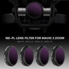 4 قطعة/المجموعة forDJI Mavic 2 التكبير عدسة تصفية Mavic كاميرا عدسة تصفية كيت ND8 PL ND16 PL ND32 PL ND64 PL مرشح لل DJI Mavic 2 التكبير