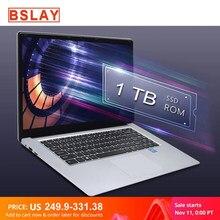 15,6 дюймовый ноутбук 8G Оперативная память 128G 256G 512G 1 ТБ SSD Встроенная память Тетрадь компьютер intel Core Quad Windows 10 и ультратонких ноутбуках, для ст...