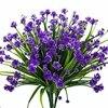 10 Bundles Artificial Flowers Fake Outdoor Home Garden Decor Plants UV Resistant