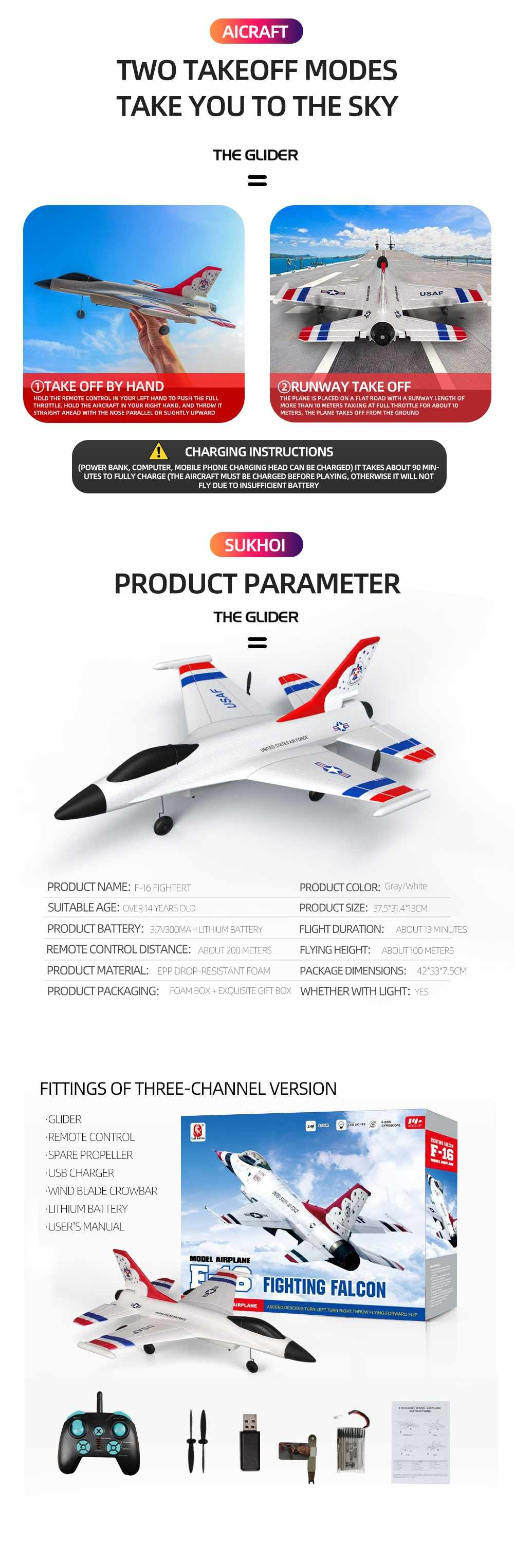 Hecfa03f49a9a4bc195a569fd78b150b5N - SUKHOI F16 314mm Wingspan 2.4Ghz 3CH Six-axis Gyroscope RTF RC Airplane Glider EPP RC Aircraft Remote control Outdoor Toys