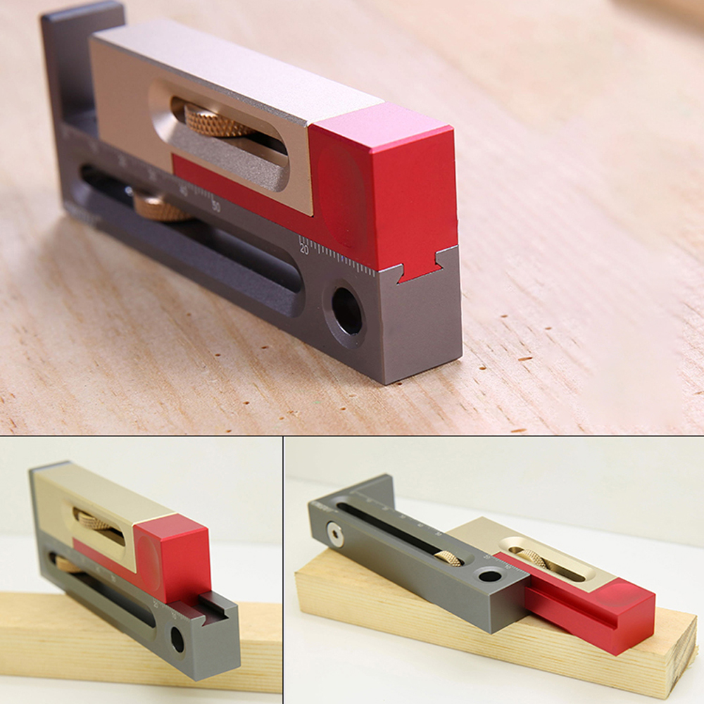 Aluminum Alloy Saw Table Saw Slot Adjuster Mortise And Tenon Tool Movable Measuring Block Length Compensation Woodworking Tools