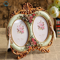 Strongwell Vintage Photo Frame Resin Home Decor Wedding Gift Desktop Wall Picture Frame Baby Gift Handicraft Furnishing Articles