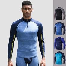 Мужские тренировочные куртки для бега, зимние, с длинными рукавами, PRO, облегающие, высокая эластичность, спортивная одежда, камуфляж, быстросохнущая, одежда для фитнеса, XXL