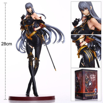 28cm Japanese Anime Figrue Valkyria Chronicles Selvaria Bles Sexy girl PVC Action Figure Toys collectible Sexy Model Doll