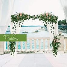 Guirlande de lierre artificielles, 12 paquets, feuilles vertes, fausses fleurs de vigne suspendues, décoration murale de jardin de fête de mariage