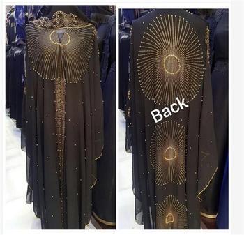 Abaya-Bolero de Dubái para Mujer, vestido Hijab musulmán con cuentas, capa Boerka,...