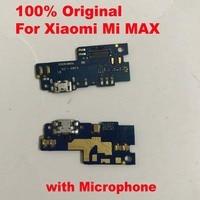 100% original porto de carregamento pcb placa usb carregamento doca conector com mi crophone cabo flexível para xiao mi max max1