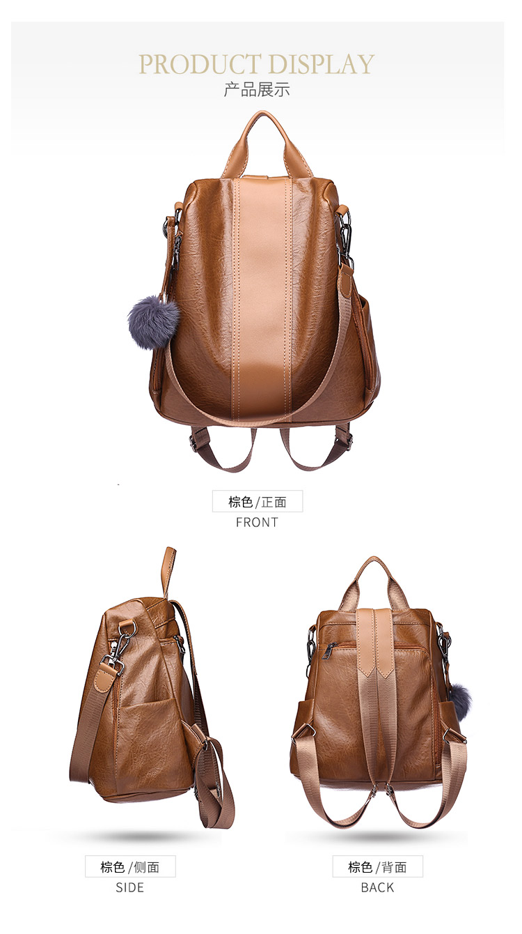 Hecfb13027a094423a980bdf553adf1b8L 2019 Women Leather Anti-theft Backpacks High Quality Vintage Female Shoulder Bag Sac A Dos School Bags for Girls Bagpack Ladies