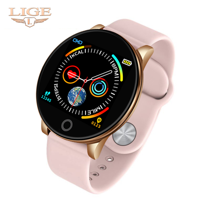 Female Fitness <font><b>Smart</b></font> <font><b>Watch</b></font> Women Running Reloj Heart Rate Monitor Bluetooth Pedometer Touch Intelligent Sports <font><b>Watch</b></font> for Running image