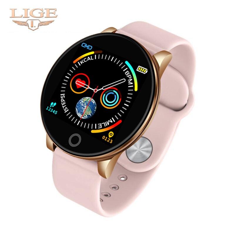 Feminino de Fitness Mulheres Correndo Reloj Bluetooth Monitor De Freqüência Cardíaca Pedômetro Relógio Inteligente Toque Inteligente Relógio Dos Esportes para a Execução de