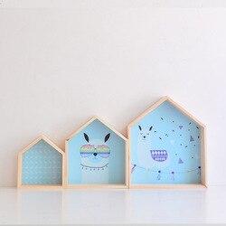 2019 nova prateleira de madeira para o quarto das crianças do berçário decoração parede prateleira de madeira com impressão para as crianças do menino da menina decoração da parede prateleira