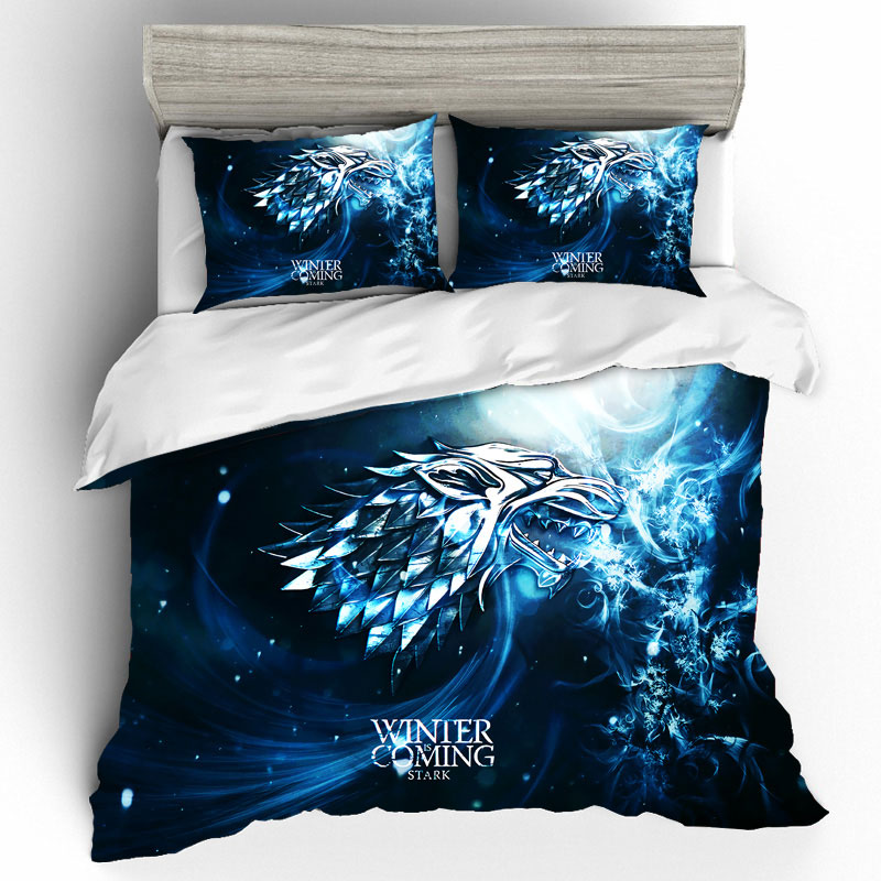 Game Of Thrones King Size Bedding Sets Duvet Cover Bed Sheets And Pillowcases Bed Linen Bedding Set Home Textile Dropshipping