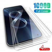 4 pezzi di vetro protettivo a copertura totale per Asus Zenfone 8 pellicola proteggi schermo in vetro temperato per Asus Zen Fone Zenfone8 2021