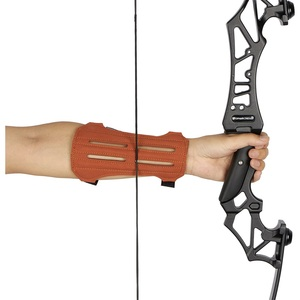 Toparchery archery arm guard 2-Strap Ventilated Leather Suede Arm Guard arm protector for hunting shooting practice