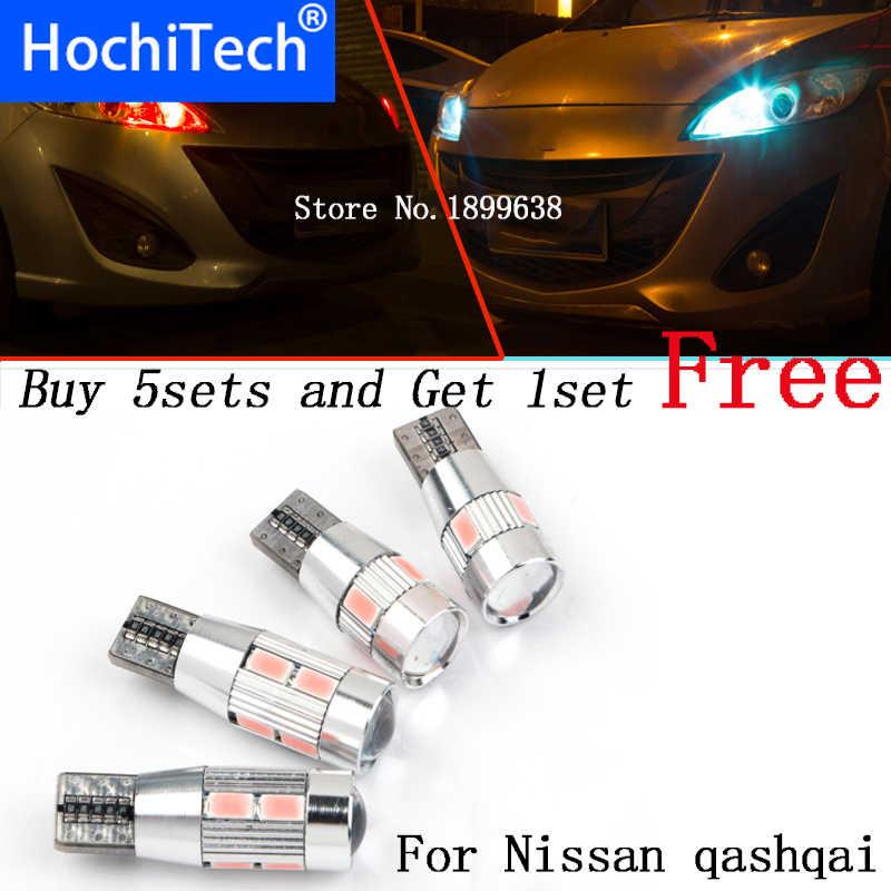 1pc seguro sin error T10 luz 194 W5W alto brillo LED Canbus para Nissan qashqai tiida nueva teana silphy nota almera juke