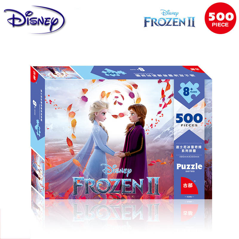 Disney Frozen 2 <font><b>Jigsaw</b></font> <font><b>Puzzles</b></font> <font><b>500</b></font> <font><b>Pieces</b></font> of Paper Adult Intelligence Box <font><b>Puzzles</b></font> Toys for Children Kids <font><b>Puzzle</b></font> <font><b>jigsaw</b></font> <font><b>Puzzle</b></font> image