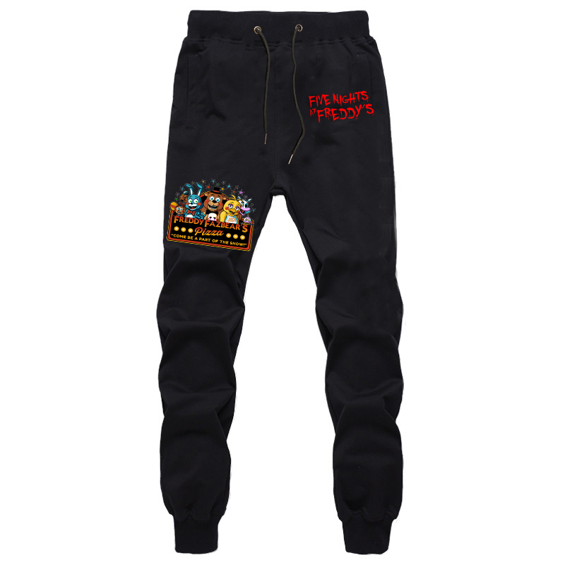 Five Nights At Freddy Print Leggings Pant Trousers Cotton Casual Sports Trousers Spring Autumn Unisex Long Pants Men's Trousers