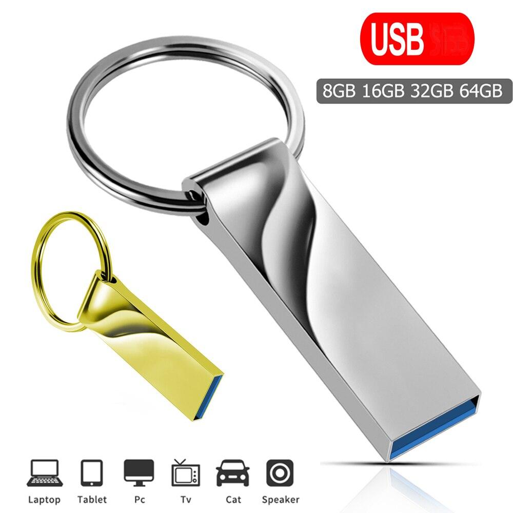 Memoria USB de alta velocidad 64GB Pendrive 128GB usb Flash 32GB cle memoria USB 16GB USB Flash Drive-8GB Micro Adaptador tipo-c