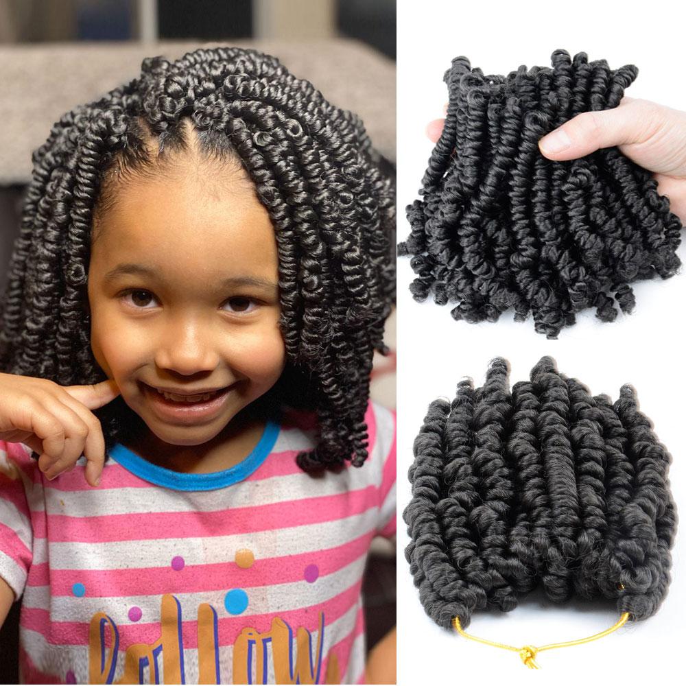 6 polegadas pré-twisted primavera twists crochê tranças 20 fios/pacote cabelo curto bob primavera torção crochê para preto