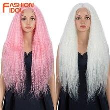 Synthetic Lace Wigs Hair Jumbo Dreadlocks Twist Pink Fashion Idol 26inch Black-Women