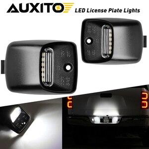 Luzes do carro de auxito 2x para toyota tacoma 2005-2015 tundra 2000-2013 acessórios canbus led número da placa de licença luzes 6000k branco