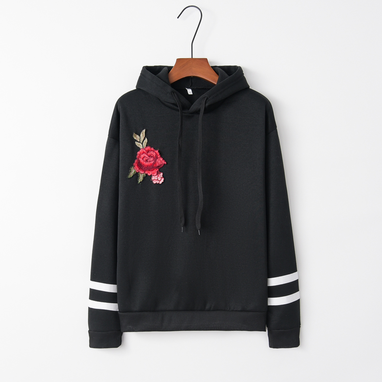 Two Ring Flowral Red 2020 New Design Hot Sale Hoodies Sweatshirts Women Casual Kawaii Harajuku Sweat Girls European Tops Korean