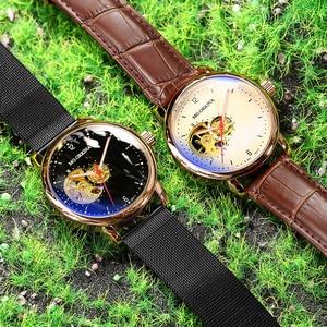 Image 4 - Reloj Hombre Orologi Automatici Mens di Sport di Modo di Maglia di Acciaio Inossidabile Della Fascia di Scheletro Meccanico Orologi da Polso Orologio da Polso per Gli Uomini