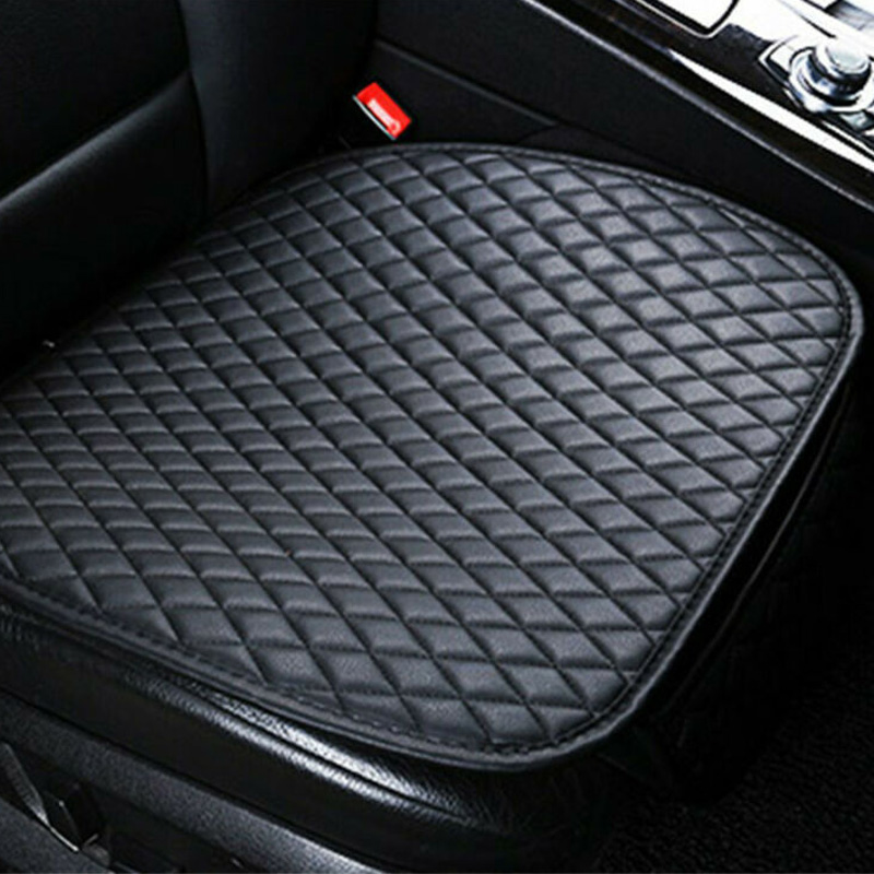 Black Universal Rear Car/Auto Seat Cover Protector Mat Chair Cushion PU Leather.