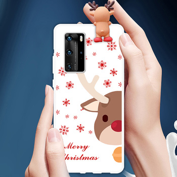 Christmas Theme Phone Case For Huawei P Smart Z Mate10 20 Lite Nova 5T 3D Doll TPU Case For P20 P30 P40 Pro Lite E Y6 Y7 2019 image