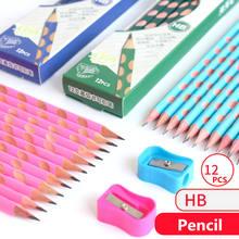 Kawaii 12 шт/компл набор карандашей с отверстиями hb деревянные