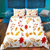 Cartoon Maple Leaf Bedding Set Colorful Autumn Duvet Cover Single Full Size Bed Quilt Cover Lovely Kawaii Bedspread Home Decor
