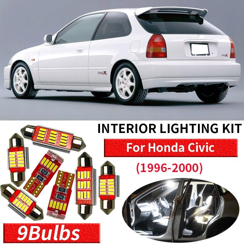 50 HONDA CIVIC 2001-2002 2xH4 SUPER WHITE CREE LED SMD 30W CANBUS BULBS LIGHT
