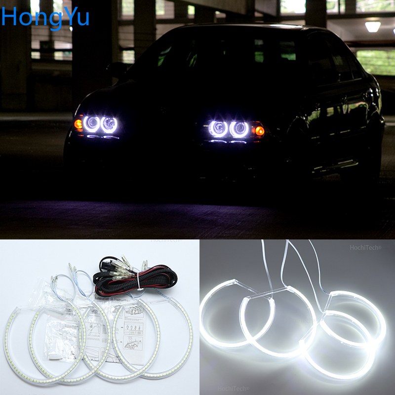 For BMW 5 Series E39 OEM 2001 2002 2003 Excellent Angel Eyes Ultra Bright Smd Led Angel Eyes Kit Halo Rings