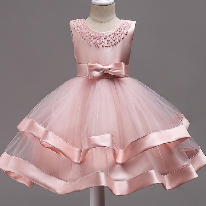 Baby Kids Infant Girl Flower Dress Children Bridesmaid Toddler Elegant Lace Cjristmas Dress Vestido Formal Princess Party Dress 6