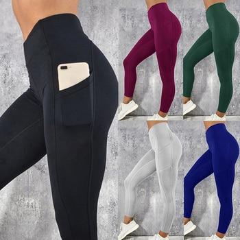 Laamei Women Gym Leggings Sexy Fitness Push Up High Waist Pocket Workout Slim Leggins Fashion Casual Mujer Pencil Pants 1