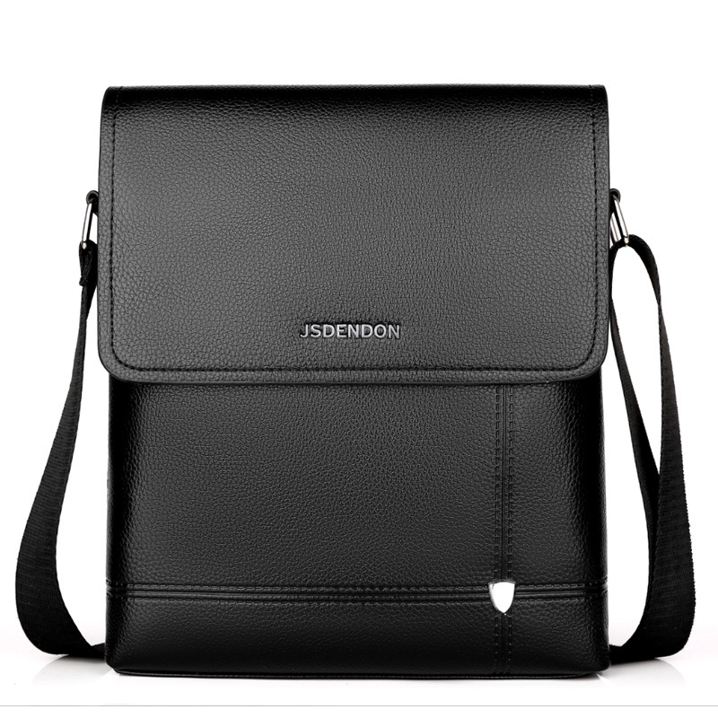 New For 2020 Business Travel Men's Solid Color PU Large Capacity Messenger Bag, Classic Design Casual High Quality Messenger Bag