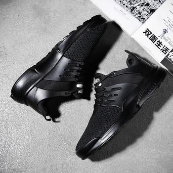 цена Jackshibo Summer Breathable Casual Shoes For Men Male Super Light Walking Shoes Sneakers Men Running Shoes Men's Black Footwear онлайн в 2017 году