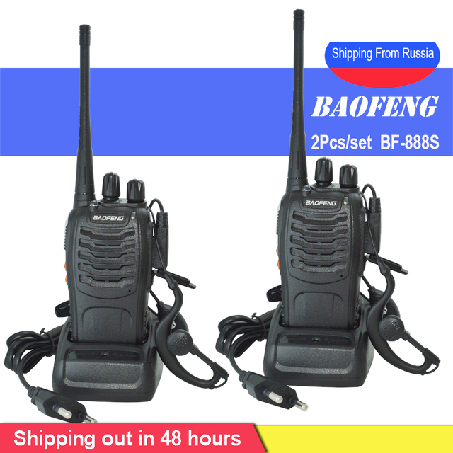 Baofeng Walkie Talkie BF 888S estación de radio portátil BF888s, 5W, BF 888S, transmisor, transmisor, conjunto de radio