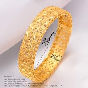 Image 2 - Wando Große Grand luxe Öffnen Armbänder & Armreifen für Frauen/Mädchen Dubai Frankreich Hochzeit Armreifen Armband Nahen Osten schmuck geschenk