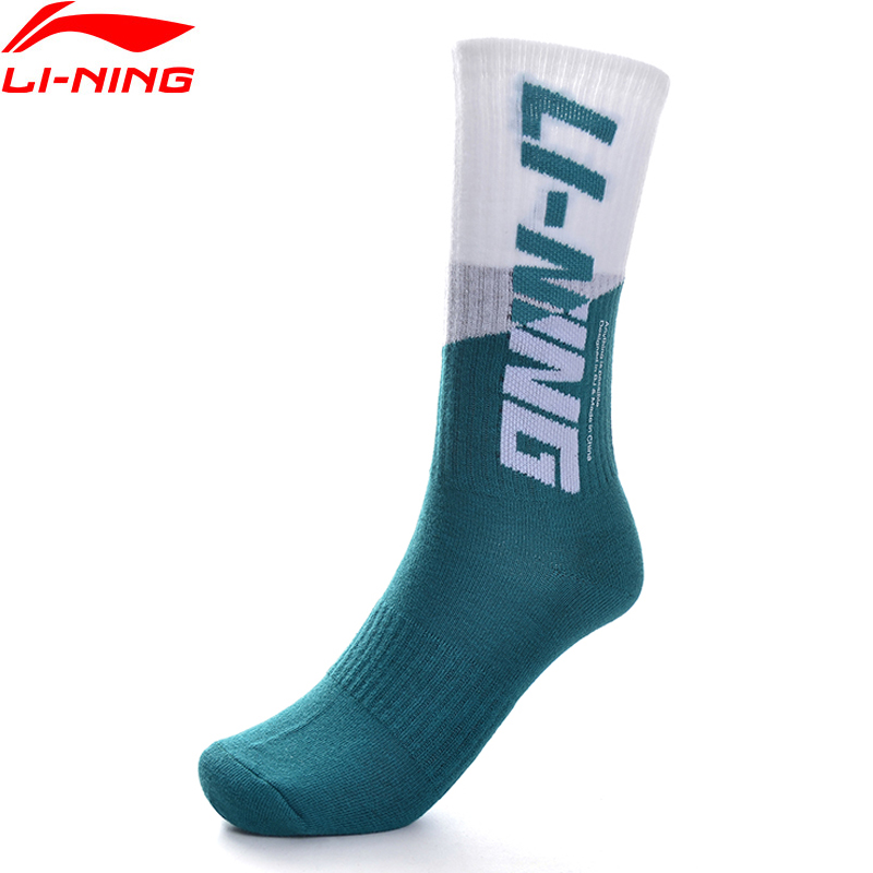 Li-Ning Men The Trend Sports Socks 24-26 Cm Cotton Acrylic Polyester Spandex LiNing Li Ning Stockings AWLP123 NWM463