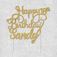 Pick Cake-Topper Custom Personalized Happy-Birthday-Birthday-Party-Decoration Glitter-And
