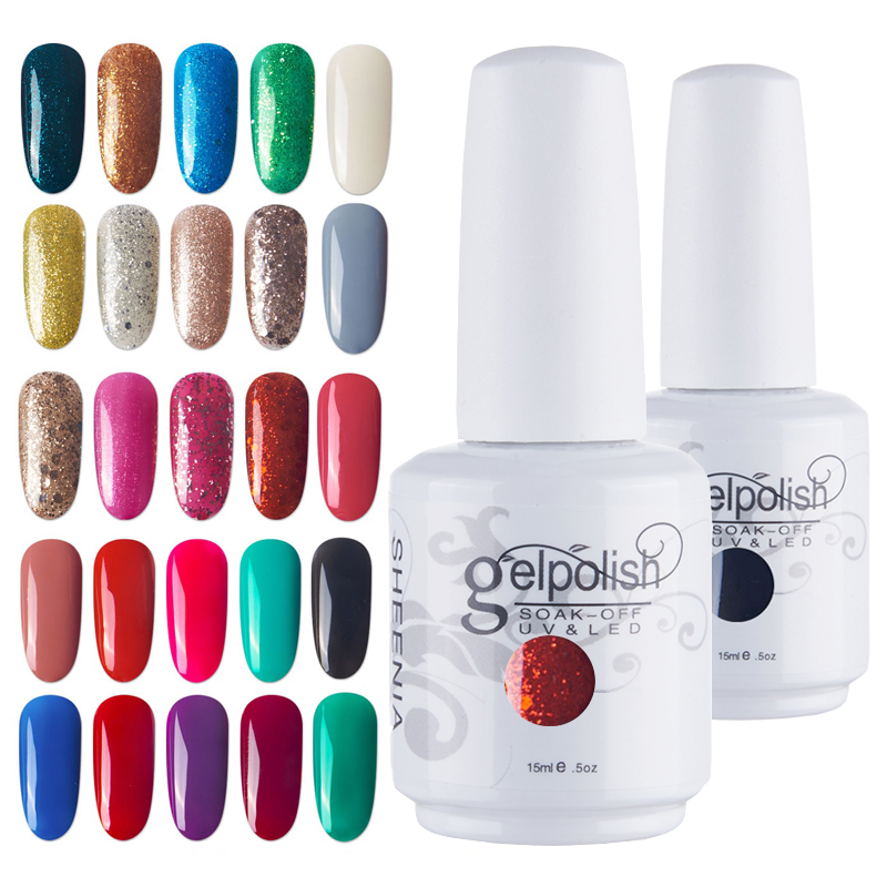 Nail Gel Polish UV Gel Nail Polish Hybrid Varnish Semi Permanent Nails Set For Manicure Gellak Nail Art Professtional Top Primer