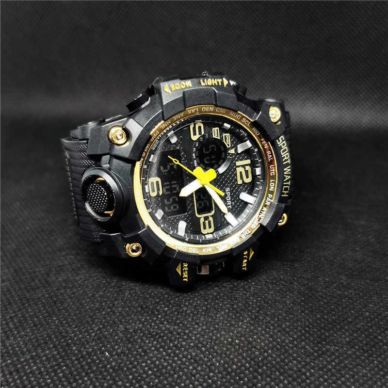 แบรนด์นาฬิกายุโรปอเมริกันCool Hip-Hopอินเทรนด์ผู้ชายแฟชั่นที่เรียบง่ายสไตล์สบายๆขนาดใหญ่dialนาฬิกา