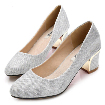 Zapatos de tacón de 5cm de grosor, zapatos dorados, tacones de talla grande 36-44 para mujer, zapatos de tacón de gatito, zapatos de mujer, tacones plateados negros de San Valentín