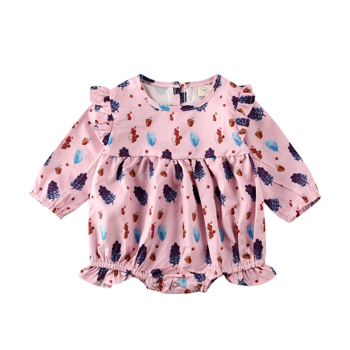 Bayi Perempuan Floral Pakaian Lengan Panjang Baju Monyet Kasual Jumpsuit Playsuits Musim Semi Musim Gugur Bayi Pakaian 0-18M