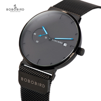 Male Watch Men Quartz Analog Timepieces Women BOBO BIRD magnetic Strap Blue Small dial relogio masculino Thin