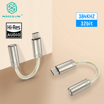 NILLKIN HIFI DAC Earphone Amplifier Pro Type-C to 3.5mm audio adapter amplifier 32bit/384K For iPhone For Samsung For Huawei deluxe dual ak4497eq 32bit 384k hifi usb dsd dac w remote control dual ak4497 dac tweaked