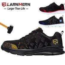 LARNMERN hommes acier orteil sécurité travail chaussures léger respirant anti-fracassant Anti-crevaison réfléchissant baskets décontractées