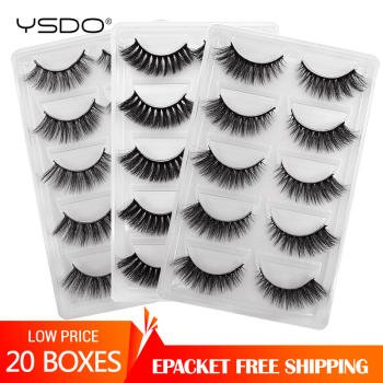 100 Pairs 3d mink lashes wholesale natural false eyelashes full strip lashes makeup mink eyelashes faux cils dramatic eyelashes
